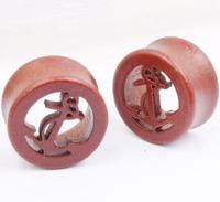 10--20mm Wood Ear Plug Tunnel Stretcher Expander Gauges Body Jewelry