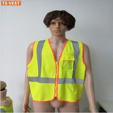 Segurança produto reflexivo colete de segurança com destaque fita reflexiva colete de segurança com bolso amarelo
