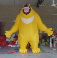 inflatable cartoon bear infested bald strong male bear two inflatable cartoon image