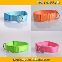 100pcs Durable charm nylon dog collar for training and hunting Plain Nylon Pet Dog Collar Wholesale cheap price NC-2514
