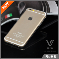 Naked tough ultra thin TPU transparent clear phone protective back soft cover for iphone 6 plus tpu case