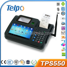 Telpo Hot sales label printer mechanism Android Pos Dual Core with Fingerpinter Reader