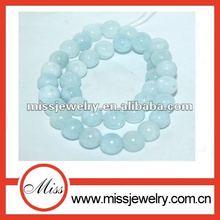 round / faceted aaa aquamarine stone