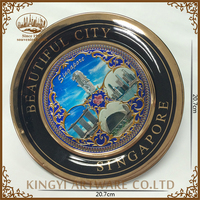 wholesale price gift souvenir ceramic decorative plate crafts