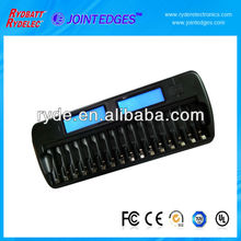 16 slot AA/AAA NI-MH smart battery charger