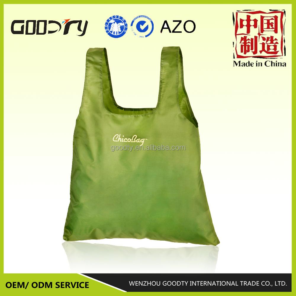 Supermarket t shirt bag reusable polyester packing bag for Bags for t shirt packaging