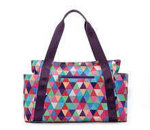 promotional simple woman Shopping check design canvas tote bag