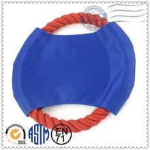 Factory Promotion Custom Made Plush Pet Products dog fabric nylon frisbee