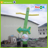 Green desktop snowman inflatable air dancer sky tube for sale