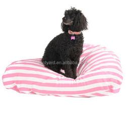 cute little dog sitting coner beanbag,soft fur pink stripe funny pet bean bag sofa