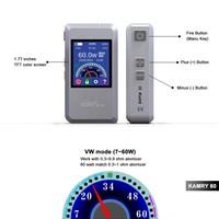 cigarette packing machine kamry 60 watt box mod 7w~60w, magnet back cover kamry60 watt fit 1pc 18650 high rate battery vapor kit