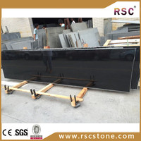 Chinese absolute black granite top reception desk