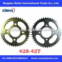 AX100 42T motorcycle rear chain sprocket