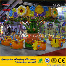 Factory price 360 angle deluxe flying swing chair for sale (dancing flowers flying chair)