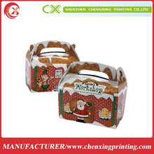 Dozen Santa's Workshop Cardboard Treat Candy Cookie Boxes Colored Gift Box Packaging