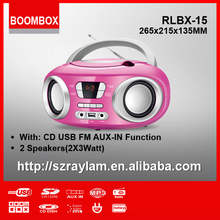 Portable CD Player FM Radio USB MP3 Aux-in Player