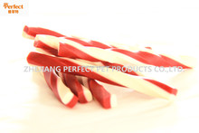 pet food snack(two-tone twisted squared chewig stick)