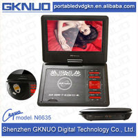 HD 9.8 inch cheap portable DVD player with bluetooth in red/black colors