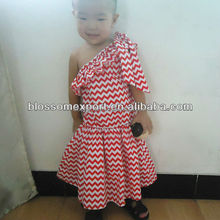 Wholesale price Sweet girl charming chevron dress baby