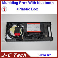 Quality B V2014.02 New Design Bluetooth Multidiag Pro+ for Cars/Trucks and OBD2 free and fast shipping
