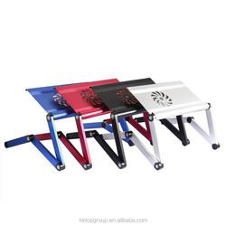 2015 New sale! Latest Design Aluminum Laptop Table Innovative Ergonomic Laptop Table With Big USB Fan