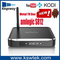 Super indoor octo-core mail-450 m10 tv box amlogic s812 full hd 4k metal m10 quad core android 4.4 smart tv box
