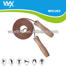 Leather Jump Rope With Wood Handle