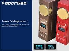 Hottest box mod vapor gem igem 40 support multiple resistances mechanical ecig mod box parts