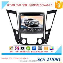 8 inch car dvd gps navigation for HYUNDAI SONATA 8 system with TV/Bluetooth/iPod/RDS/mp3/radio