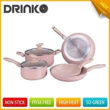2015 Hot design marble coated cookware set