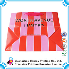 fashion beauty Factory printed custom cheap gift bags with handle