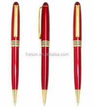 Corporate gift red metal ball pen/Metal pen red/Red metal ballpoint pen