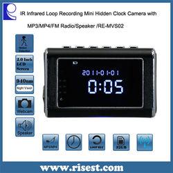 Multifunction Clock Camera, Mini Spy Camera Clock , Mini Clock Radio Hidden DVR- Continuous power or battery