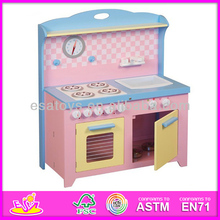 2015 Hot sale high quality toy kids kitchen,new popular Wooden toy kids kitchen, Educational set toy kids kitchen W10C042