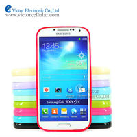 Hot selling cell phone Case for Samsung Galaxy S4 I9502 with Clear TPU+PC