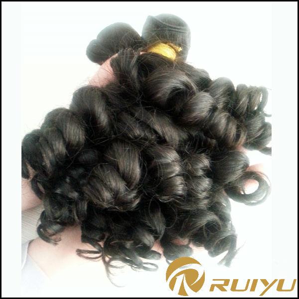 Année 6A Double Drown Bouncy boucles tante péruvienne funmi cheveux