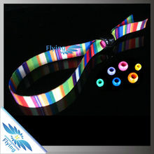 2014 OEM wholesale promotional polyester custom wristband for VIP