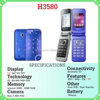 "2.4"" screen dual sim quad band mini bluetooth phone H3580 made in china"