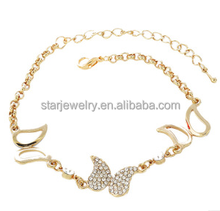 South Korean jewelry a lovely diamond-encrusted bracelet female butterfly street