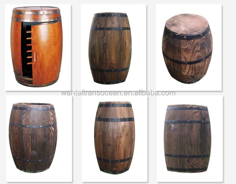 Decorate Wood Cask With Base