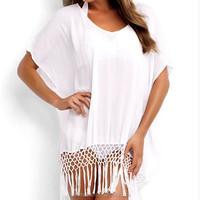 wholesale white short sleeve Midi kaftan indonesia