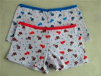 3004-6 OEM 2015 fashion cute little young girls cartoon printing underwear mini child panty models cotton children panties