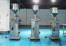 Vertical type cream filling machine liquid and paste filling machine