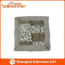 Factory Price Pet Square Cushion Dog Leopard Print Soft Fleece Product