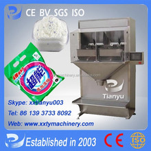 Tianyu energy saving chicken essence double hopper weighting and packaging machine with weighting range 30g-5000g