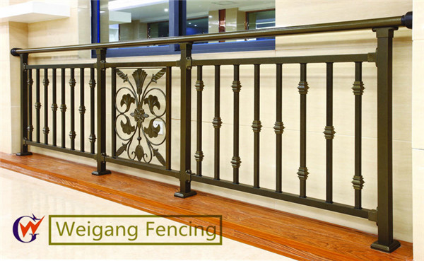 Decorative galvanized steel balcony railings design Decorative railings