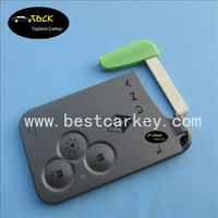 Topbest blank smart card for renault laguna renault smart card shell 3 button with blade