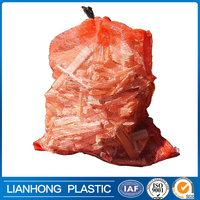 100% virgin material pp mesh net bag for sale, food grade polypropylene mesh bags firewood, wholesale packaging net bag