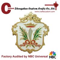 promotional gift item expert factory custom metal car badge emblem