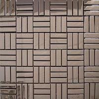 brown metal glass mosaic